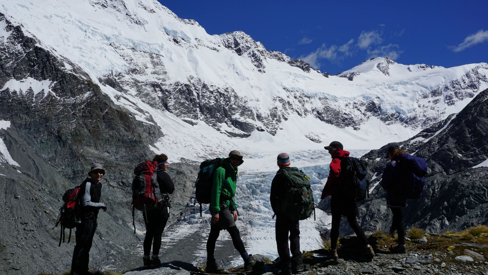 Our team at Dart Glacier, Southern Alps of New Zealand