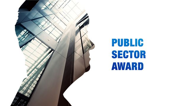 Silhouette of head and text—Public Sector Award