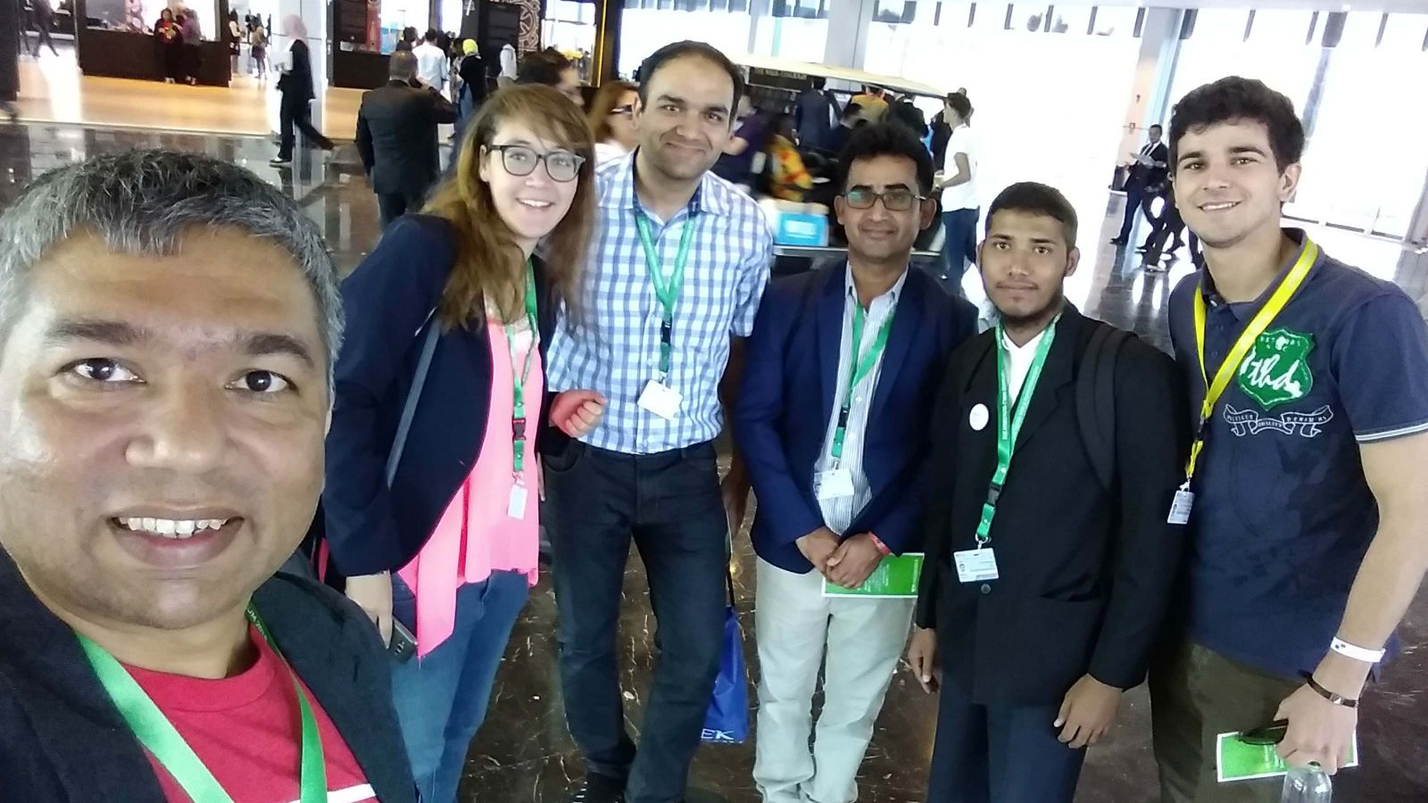 Dr Saud Khan with other delegates at the World Youth Forum, 2018 in Cairo, Egypt.