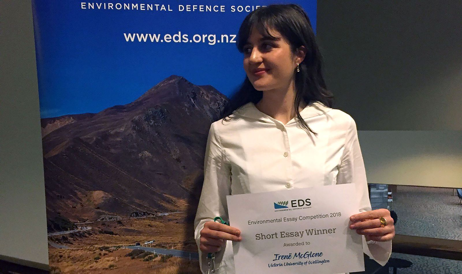 Irene McGlone at the Environmetal Defence Society conference