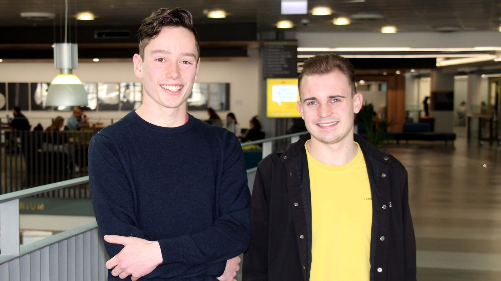 Conor Doherty-Craig (left) and Benji Pritchard (right), founders of Techne.