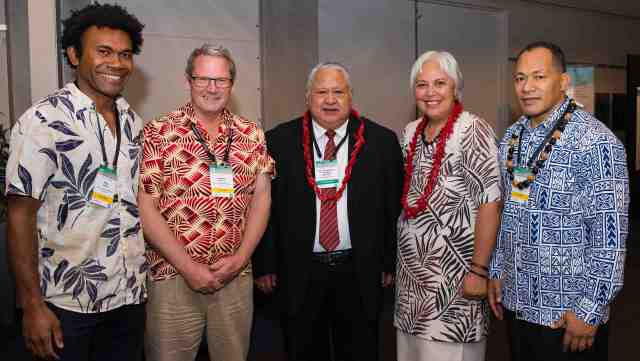 Organisers of the Pacific Climate Change Conference with the Samoan Prime Minister