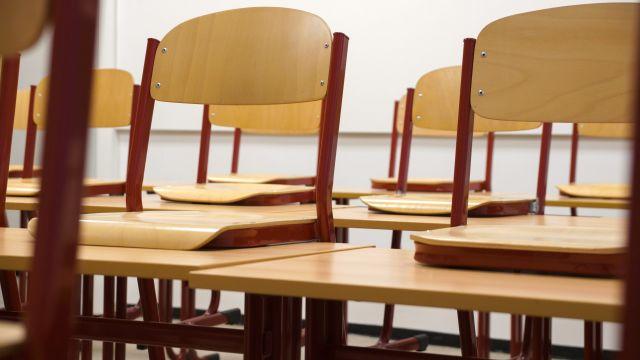 Wooden school chairs