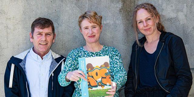 Elizabeth Stanley, Trevor Bradley and Sarah Monod de Froideville launch the Aotearoa Handbook of Criminology