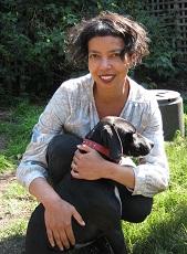 Photo of author Michelle de Kretser with her dog Minnie