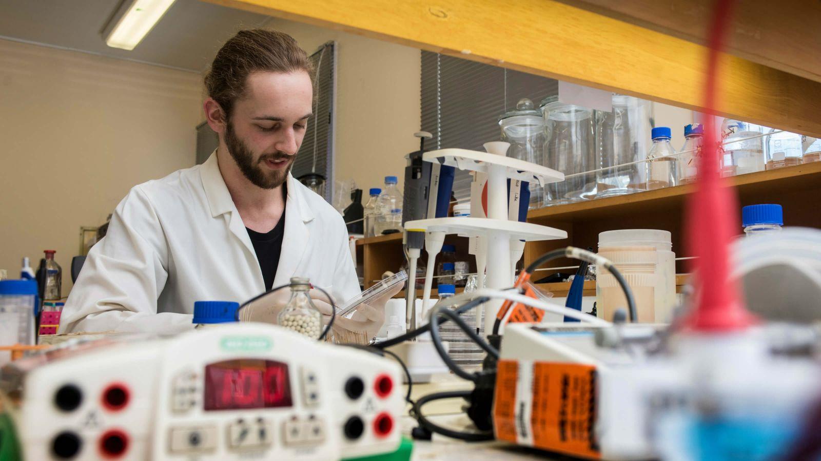 Biotechnology PhD candidate Luke Stevenson