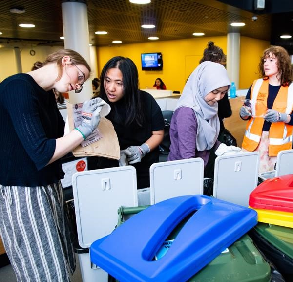 Waste education in the Hub