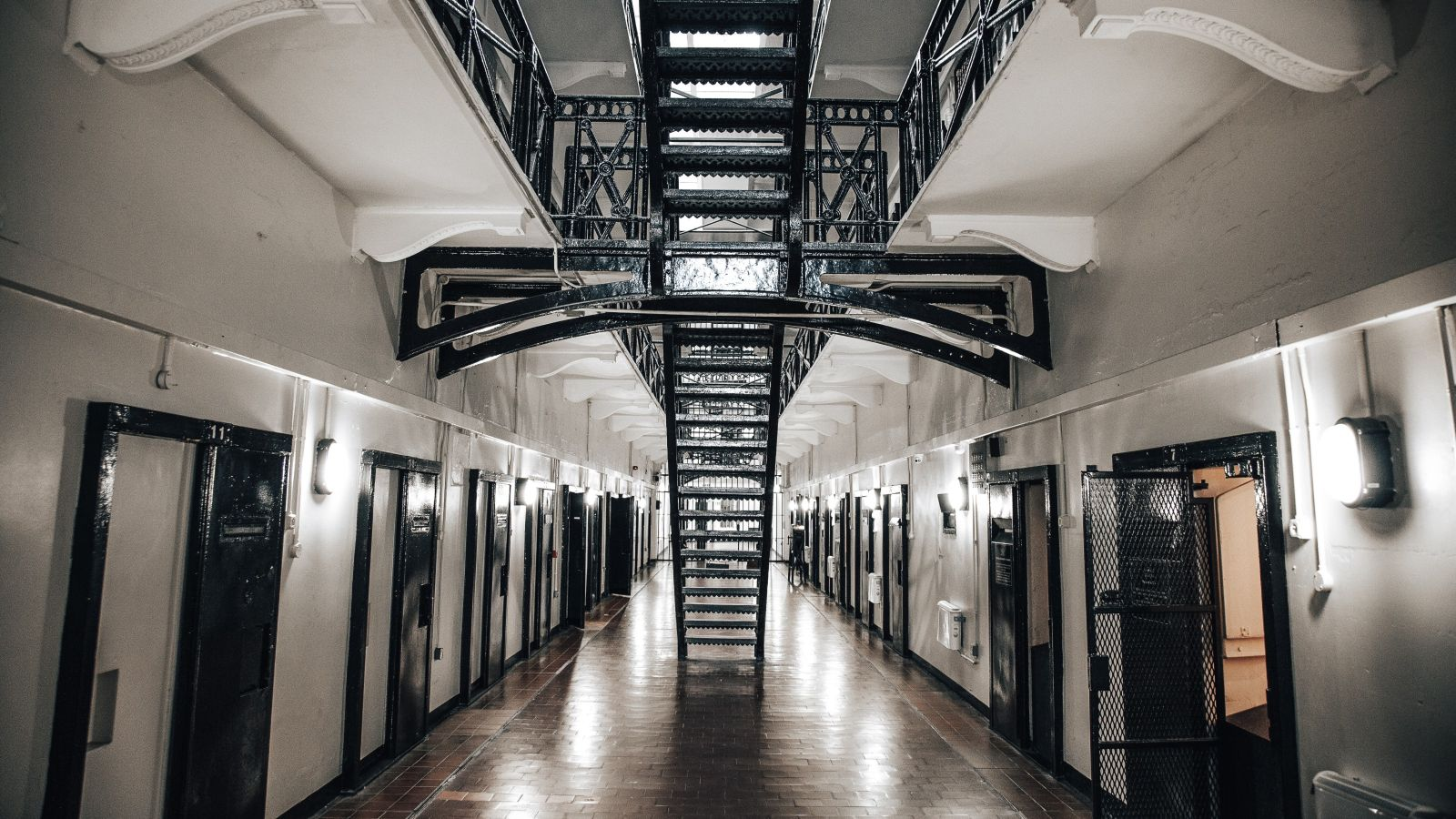 Prison corridor and staircase