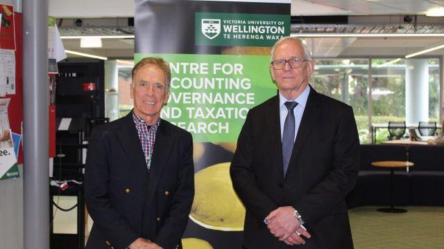 Professor Paul Griffin and Professor Tony van Zijl.