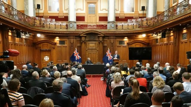 The Hon Chris Hipkins speaking at the Post-Election Conference 2020