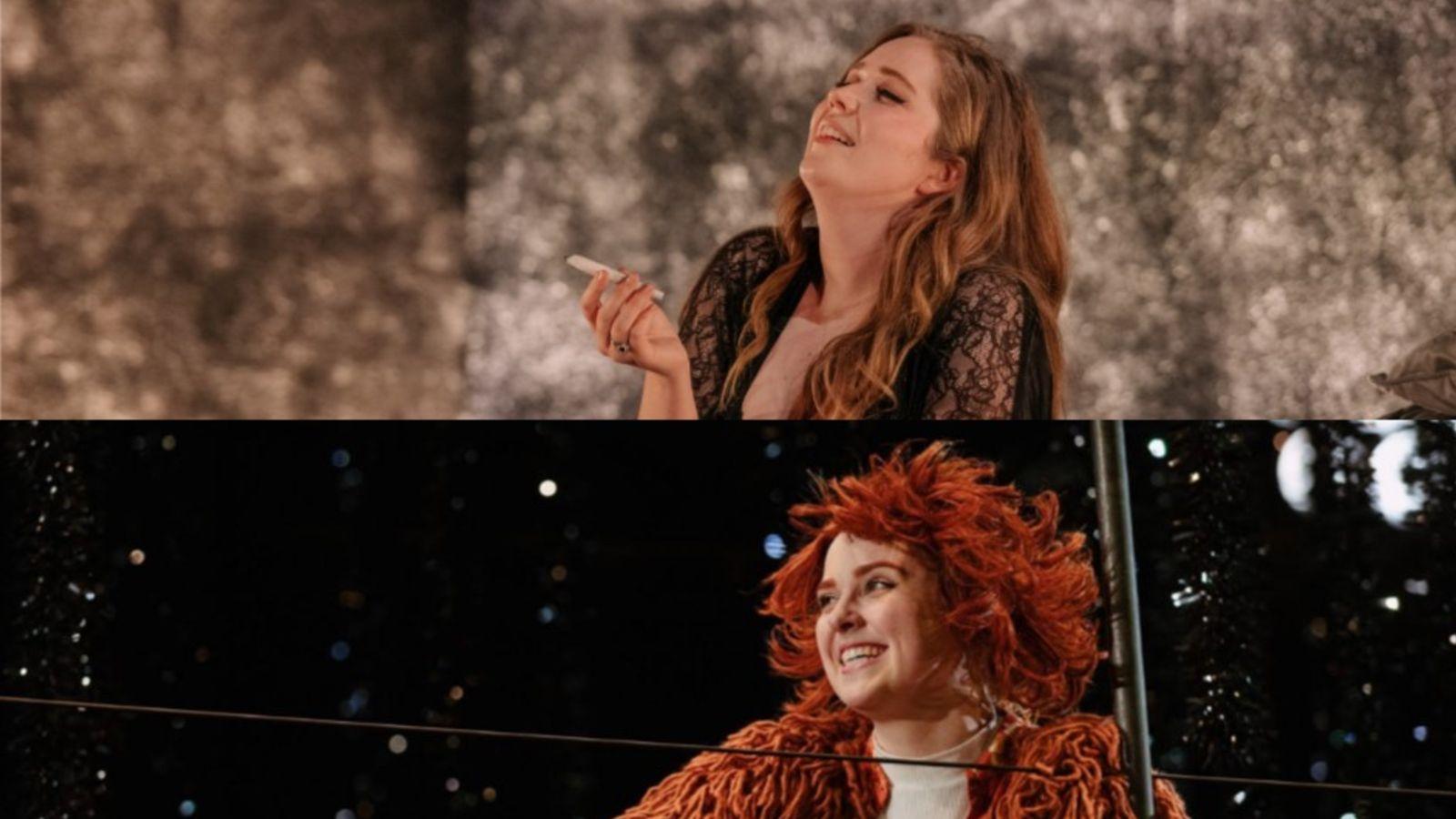Two opera singers in costume