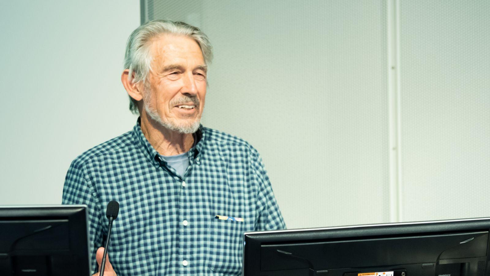 Peter Barrett speaking at the Peter Barrett Symposium in Nov 2020