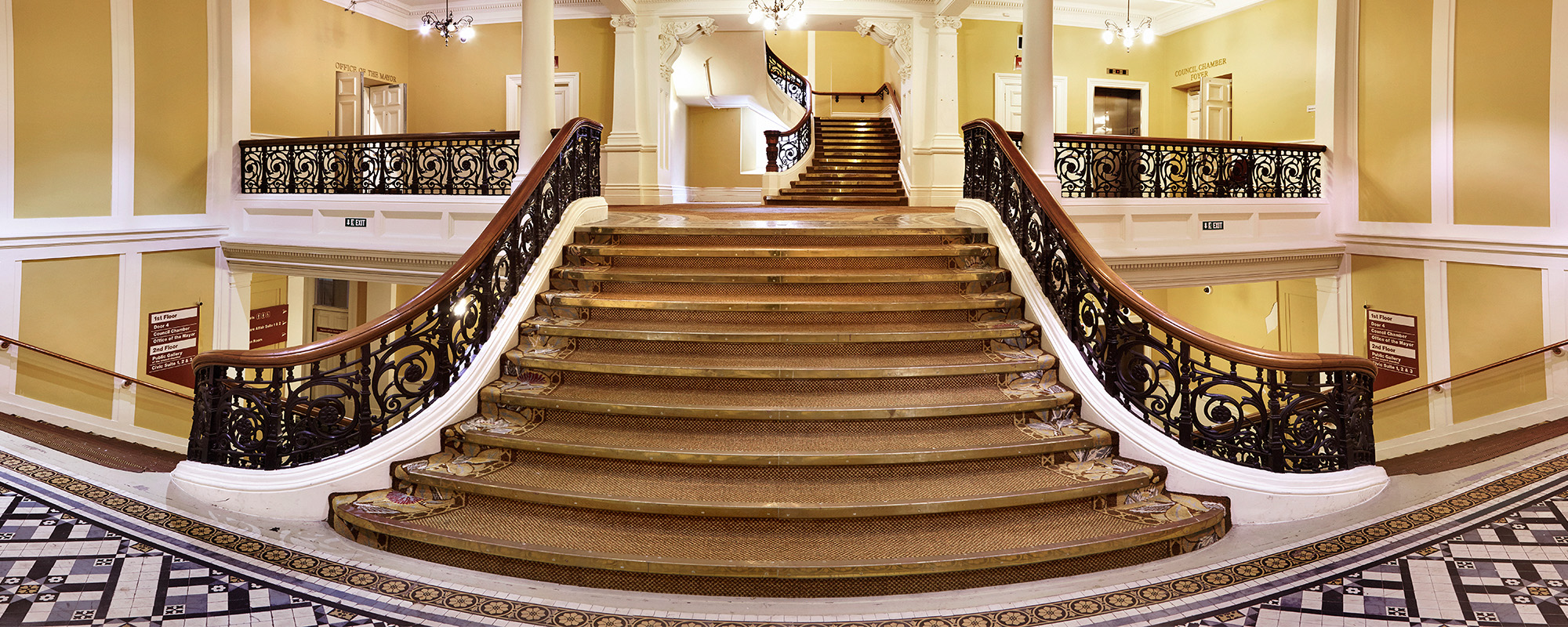 Town hall stairs