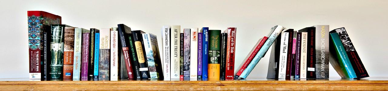 A banner of a bookshelf.
