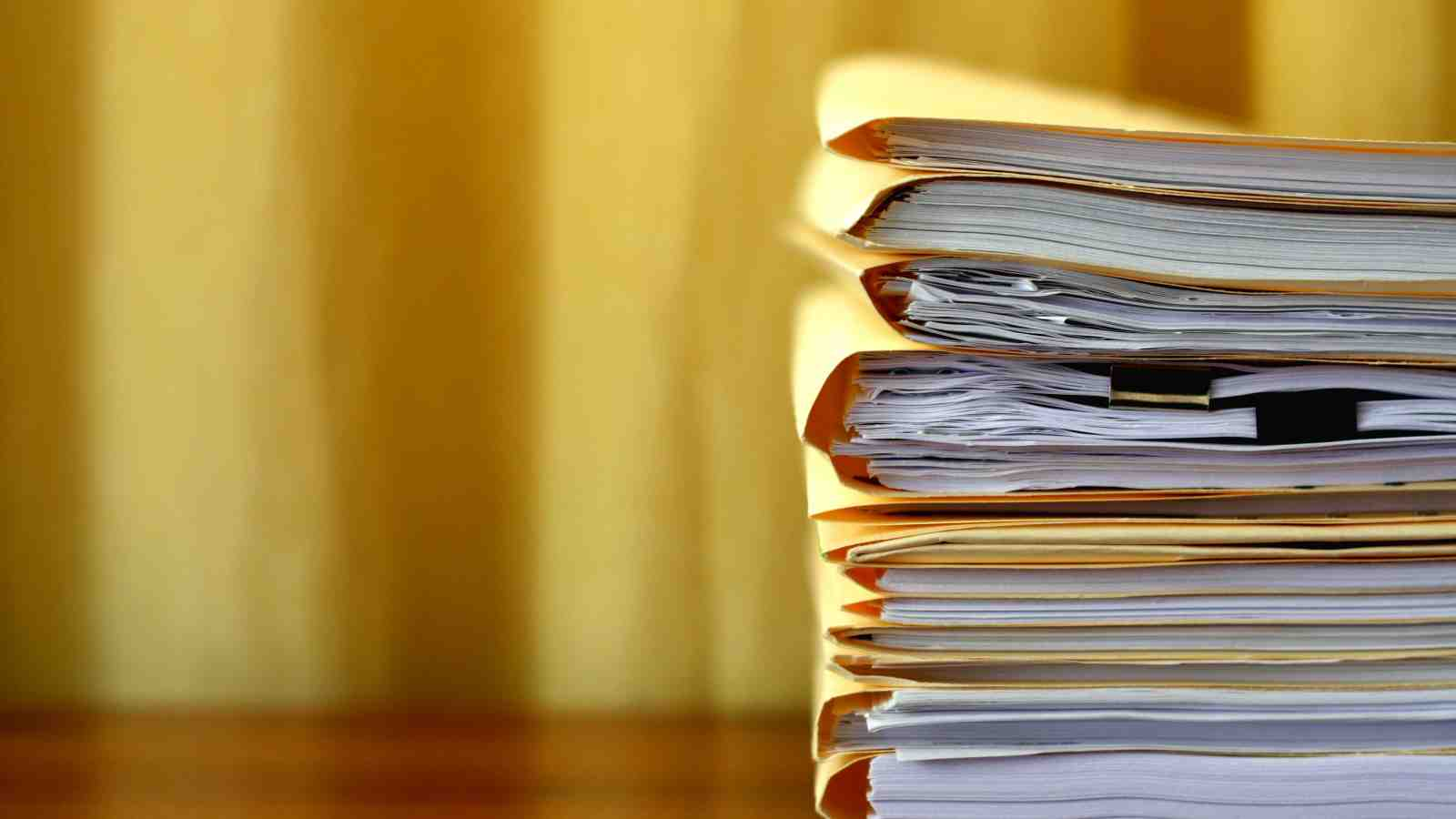 case files on a desk