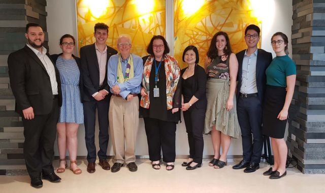 The group of delegates with the NZ ambassador to China – from left to right: Liam Stoneley (delegate and Solicitor Chapman Tripp), Katherine Neville-Lamb (delegate and Solicitor at Polson MacMillan), Sam Macintosh, Michael Powles (ex-New Zealand Ambassador to China), Clare Fearnley (Current New Zealand Ambassador to China), Heida Donegan (Senior Counsel and Head of China Business at Kensington Swan), Emily Osborne (delegate and Solicitor at Simpson Grierson), Elia Kim (delegate and Solicitor at Kensington Swan), Emma Gattey (delegate and Junior Barrister at Thorndon Chambers).