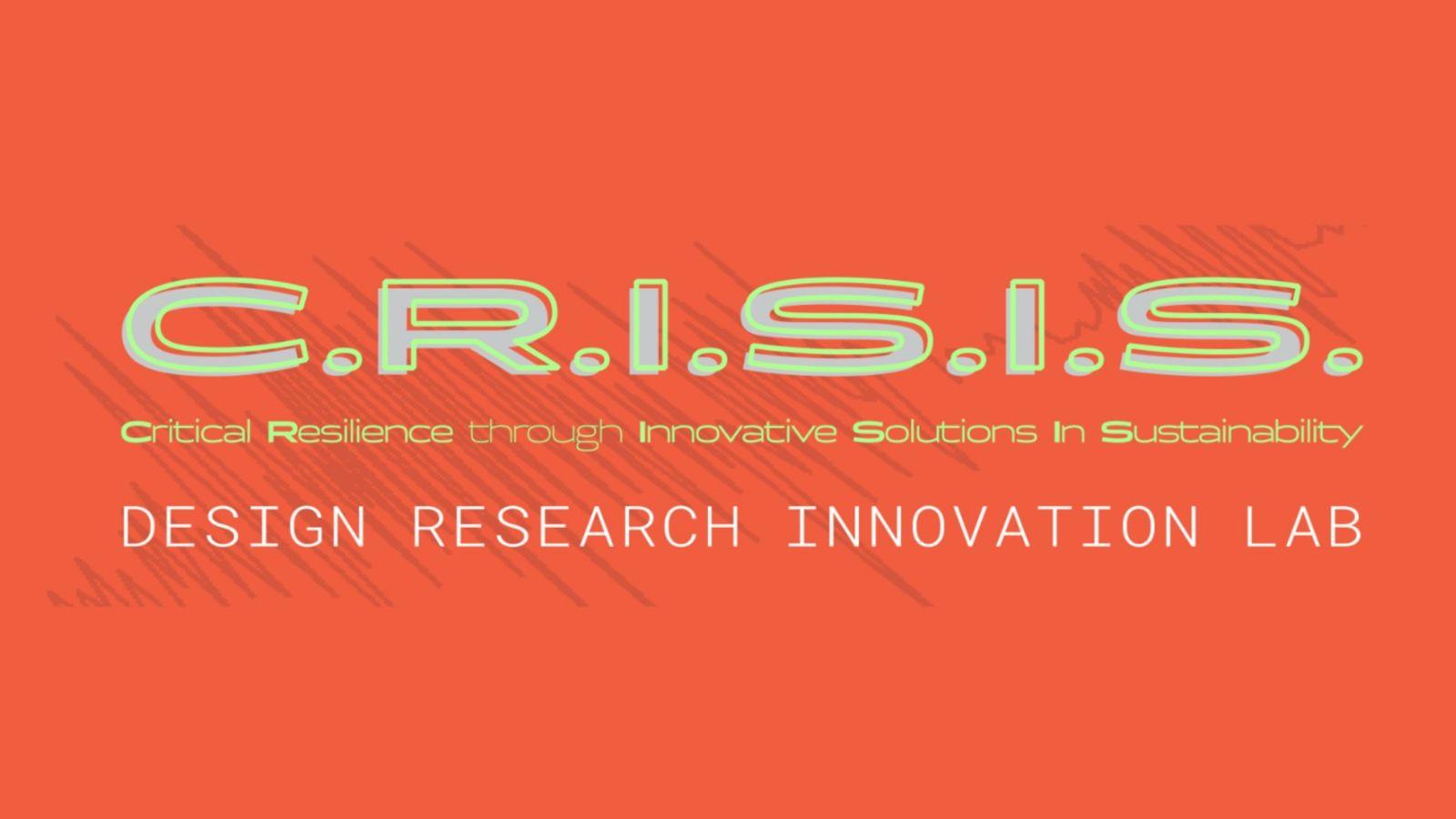 CRISIS logo on orange background