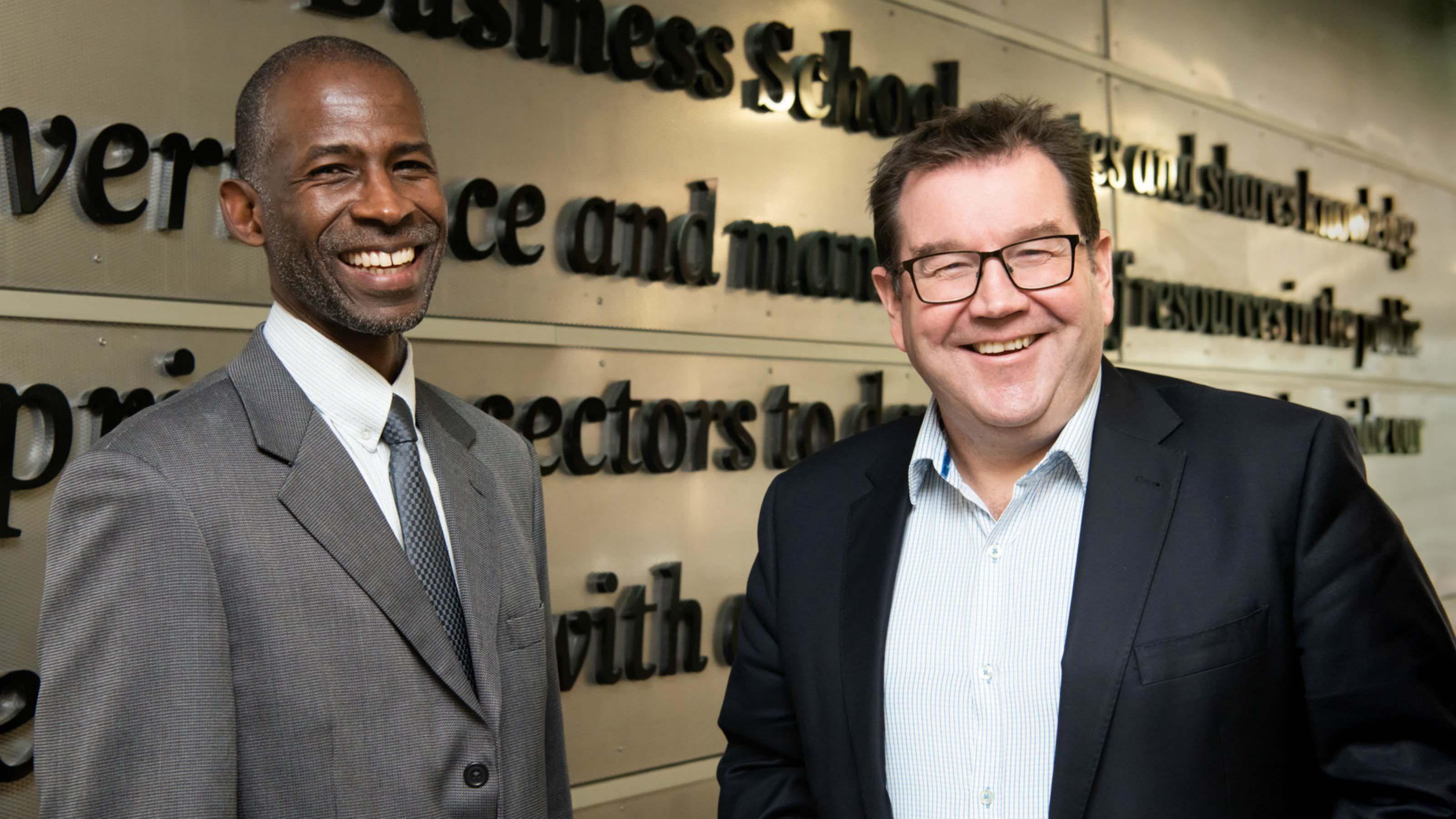 Professor Ian Williamson and Hon Grant Robertson