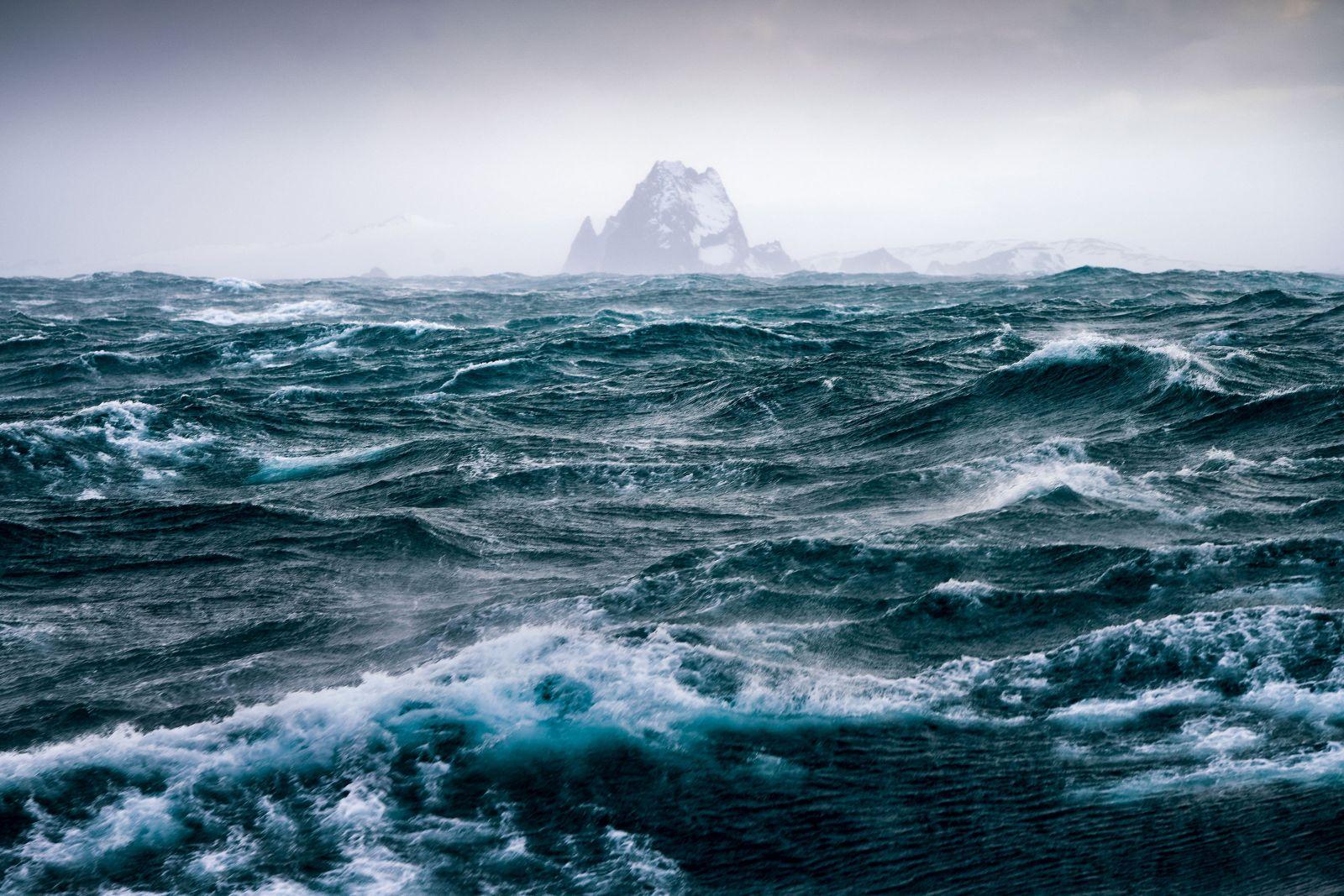 Stormy Antarctic sea