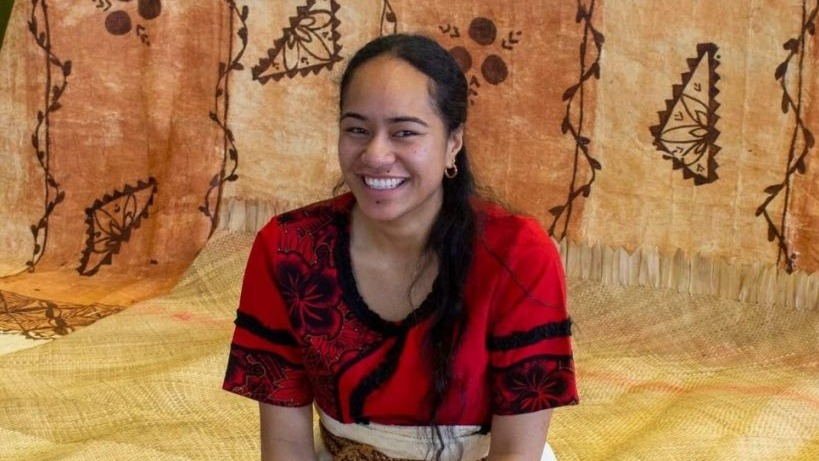 BA in Anthropology and Pacific Studies student Etelini Manoa.