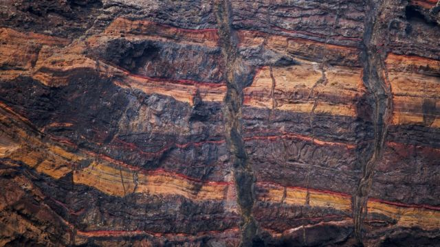 A slice of the Earth's crust, beneath which the thick tectonic plates have roots that act like an anchor.