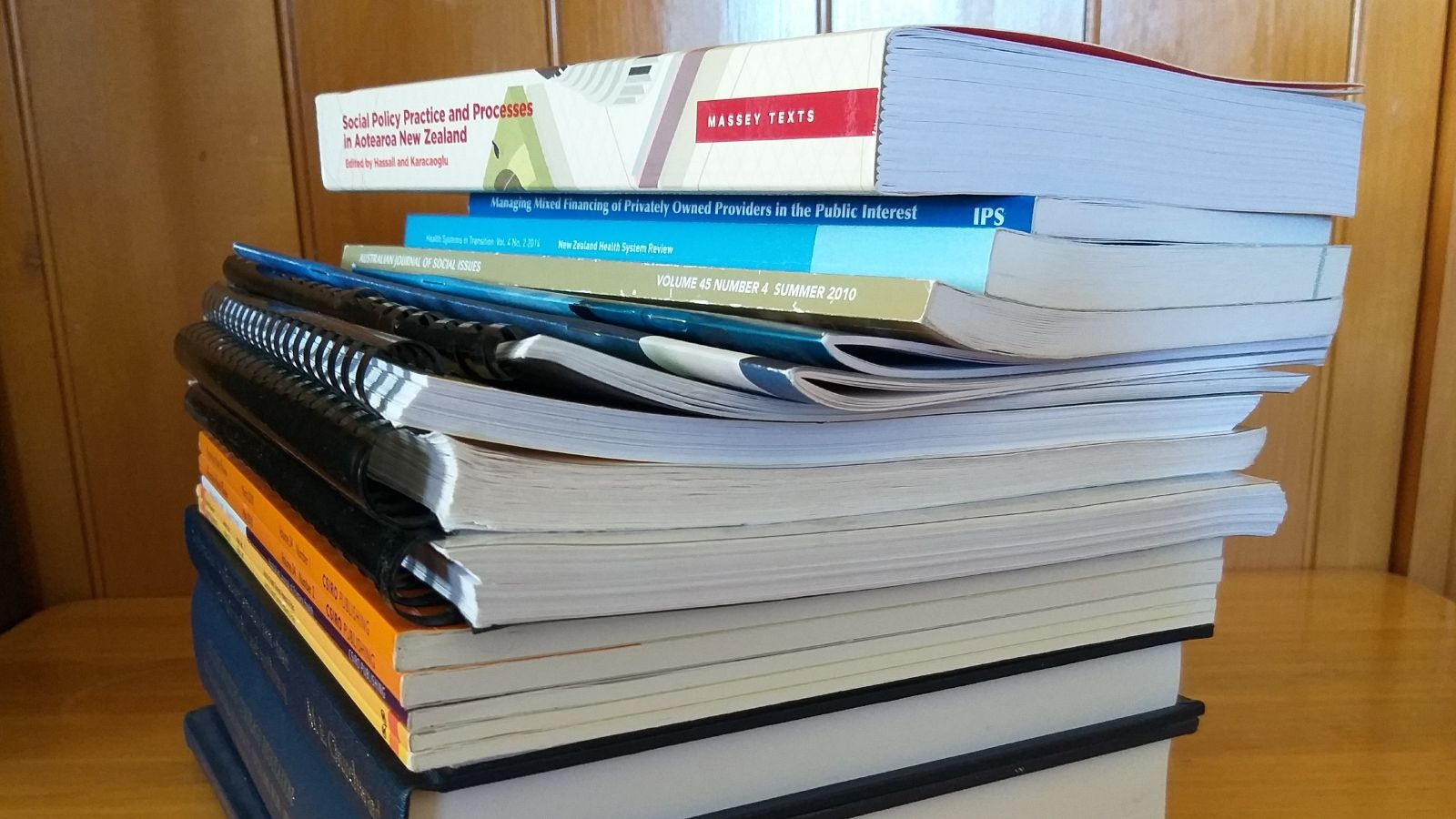 Picture of stack of publications