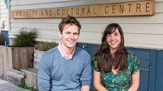 Gradon Diprose with Hannah Mackintosh, coordinator of the Wellington Timebank