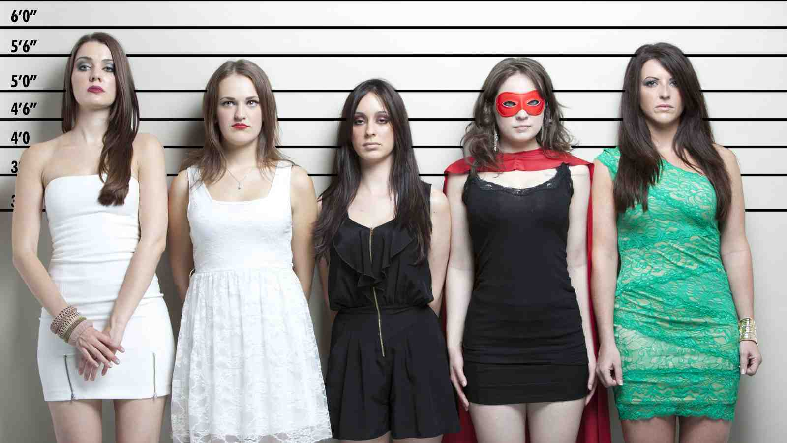 line up of female suspects