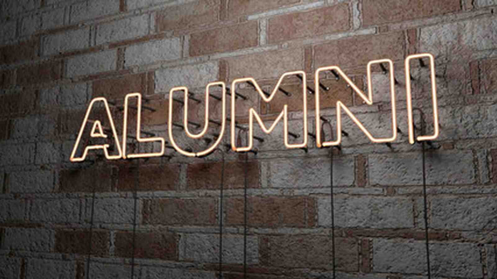 A sign that reads Alumni.