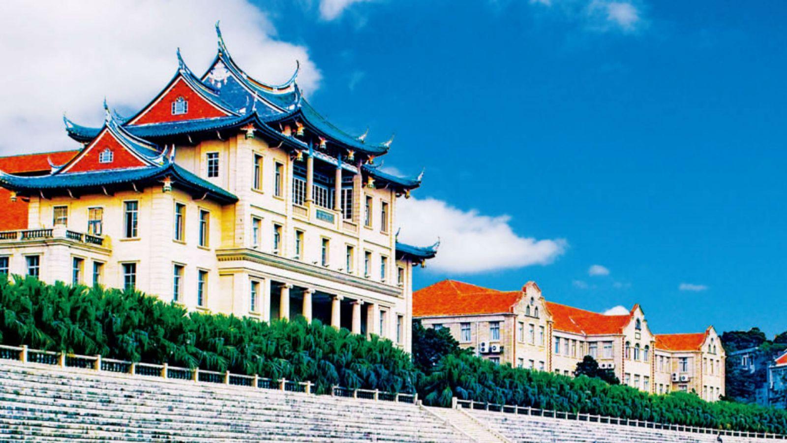 An image of buildings at Xiamen University.