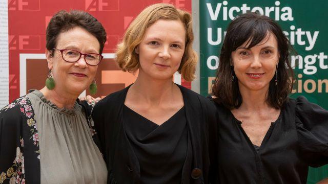 Left to Right: Senior lecturer Chris Price, Laura Southgate, senior lecturer Emily Perkins