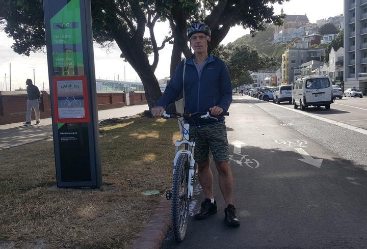 Mike Lloyd on his bike