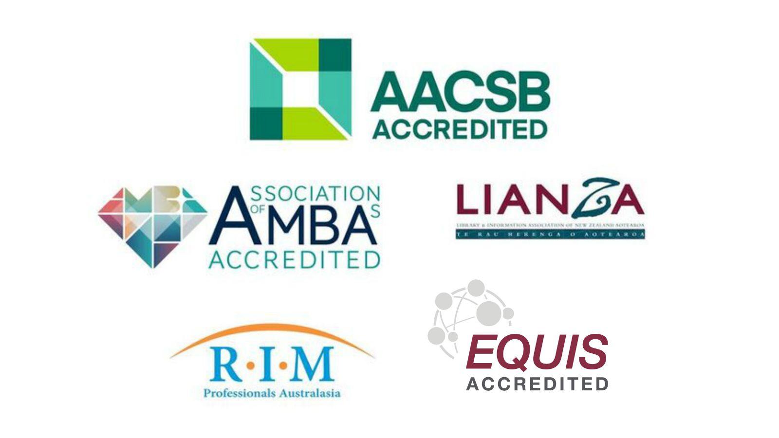 Logo – AACSB, AMBA, LIANZA, RIM and EQUIS.