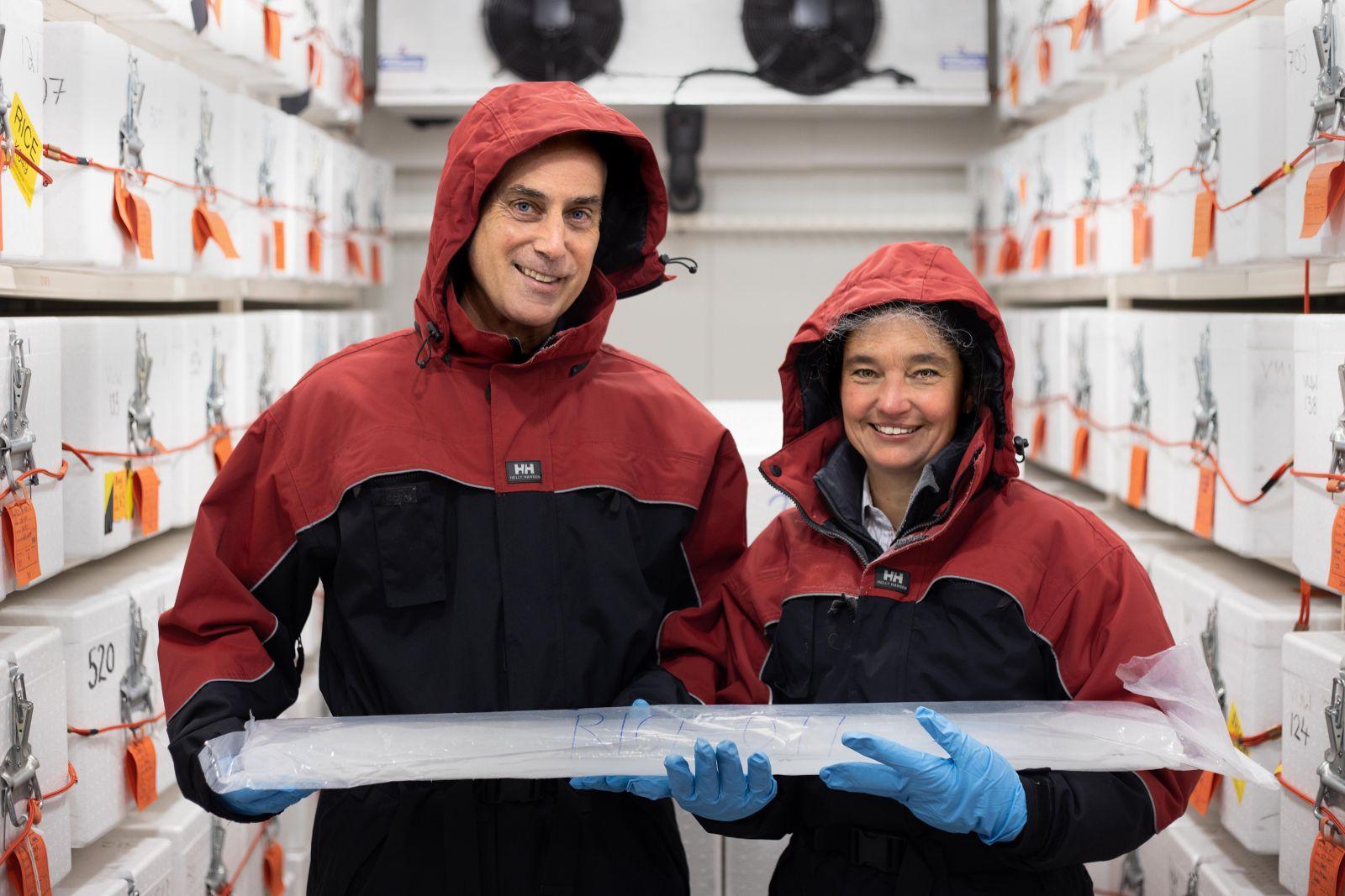 Dr Richard Levy and Dr Nancy Bertler