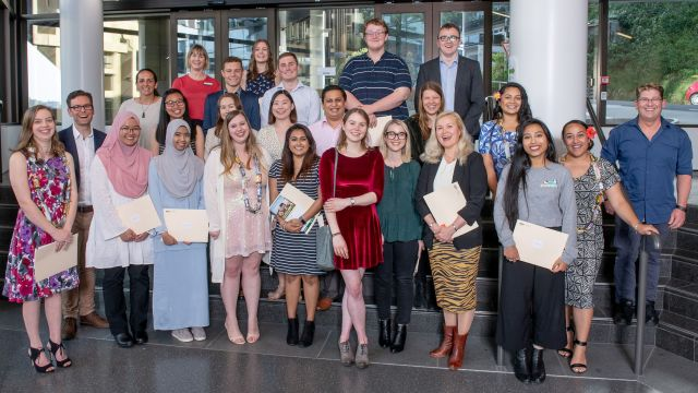 Group of students who have completed Wellington Plus.