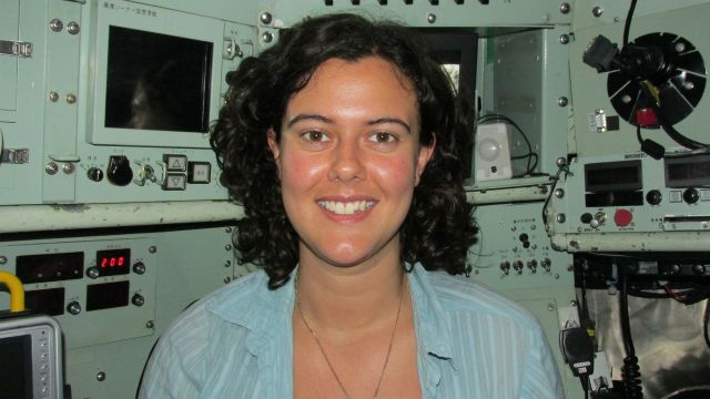 Rachel Boschen photographed during a research voyage
