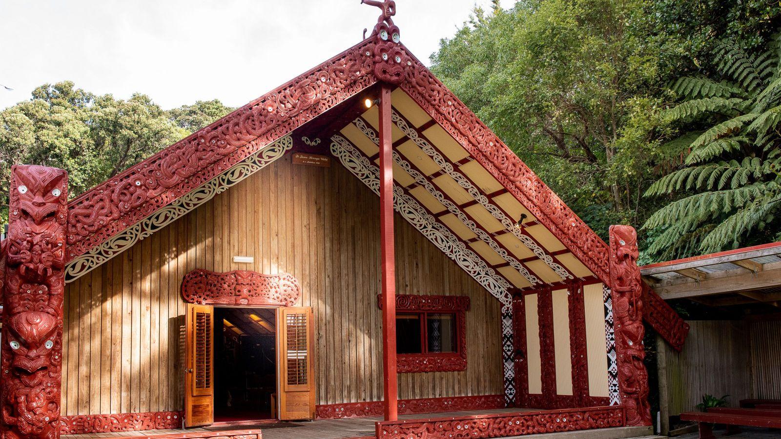 The whānau lab represented by an image of te herenga waka marae