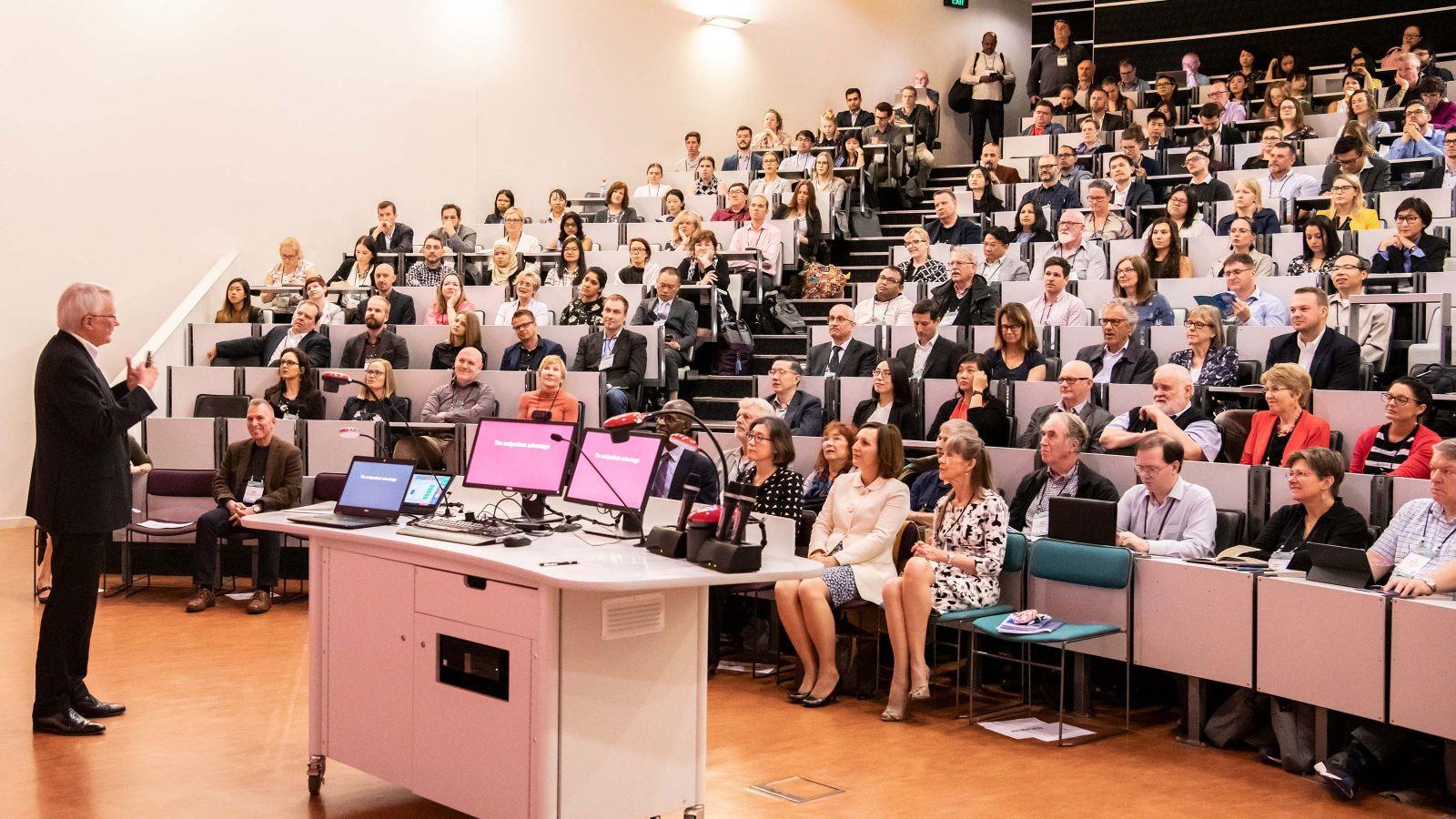 Professor John Deighton hosts a presentation at the ANZMAC conference
