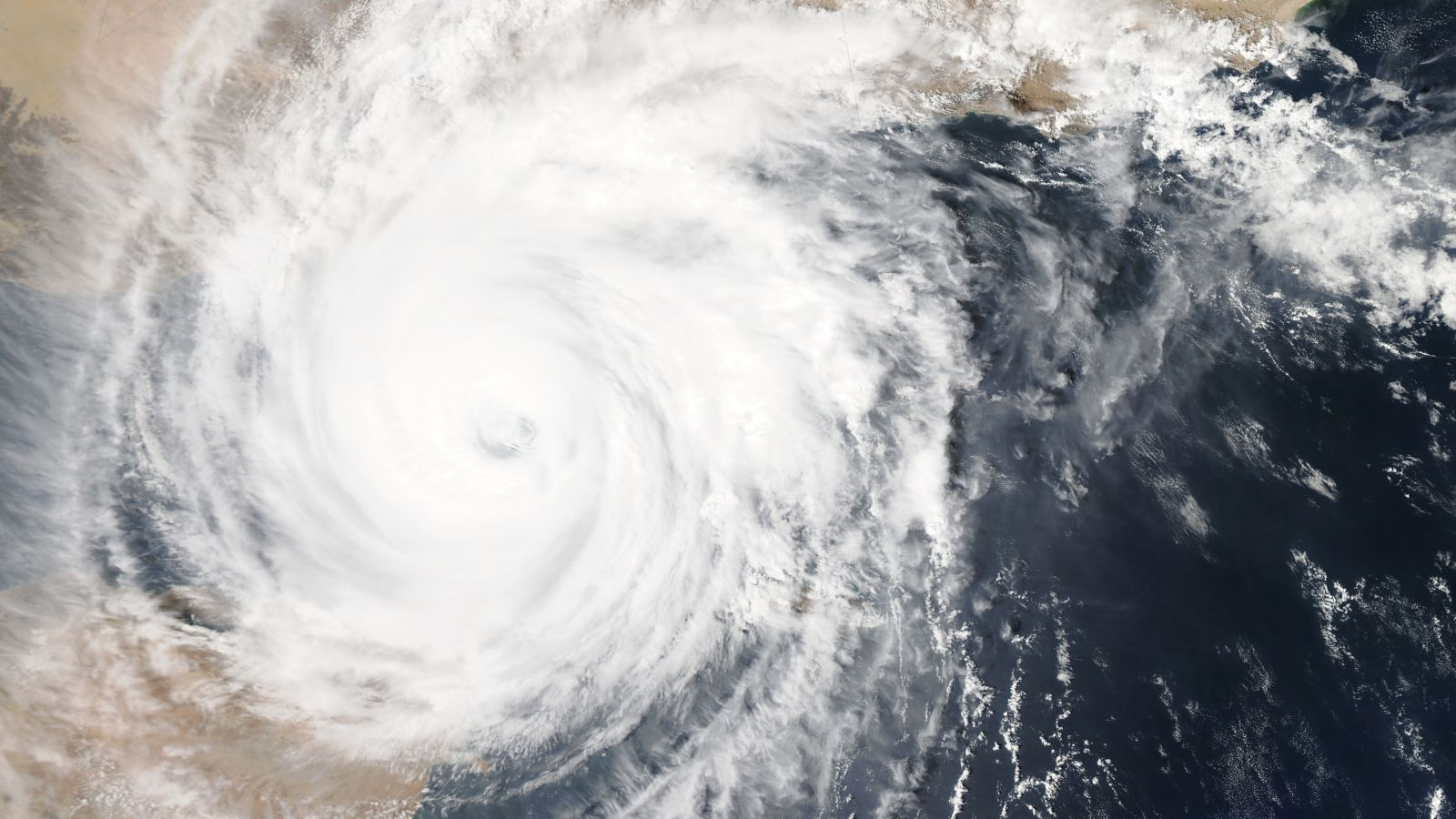 Satellite photo of typhoon over Yemen
