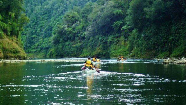 Canoeing on Whanganui River
