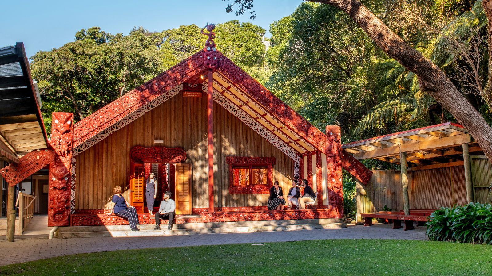 Āwhina staff at Te Herenga Waka marae, Kelburn