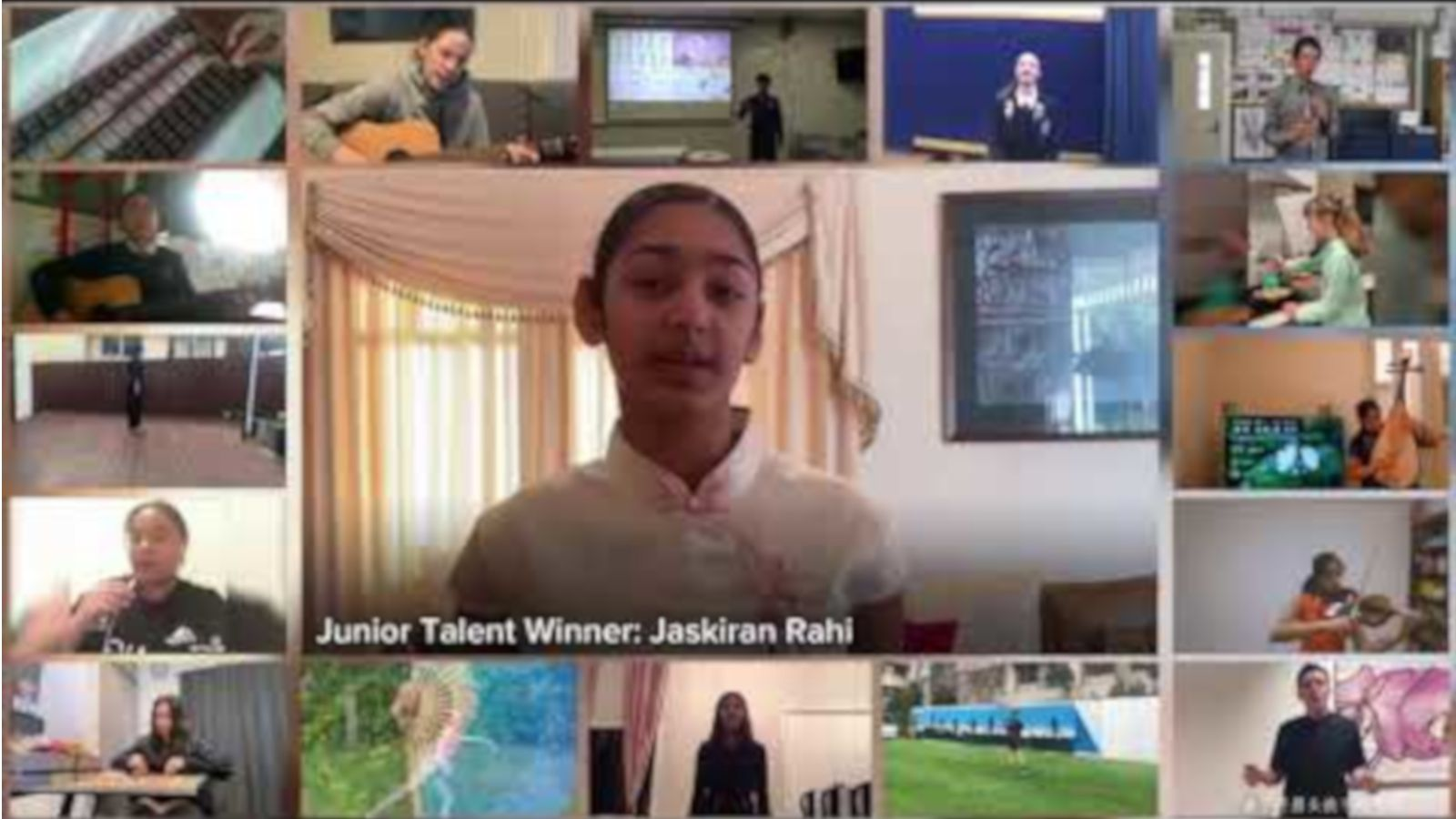 still image excerpt of highlights compilation video for 2020 NZ School Chinese Bridge speech competition