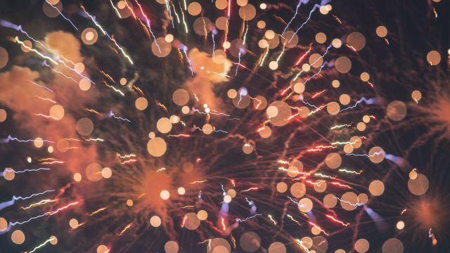 A photograph of fireworks.