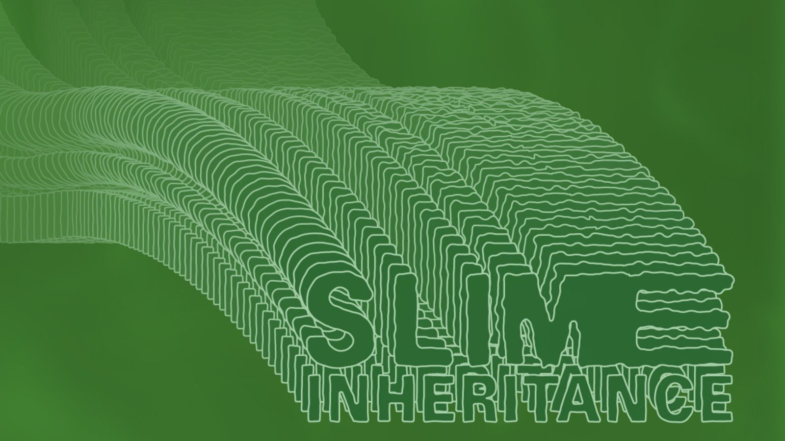 Green font saying Slime Inheritance