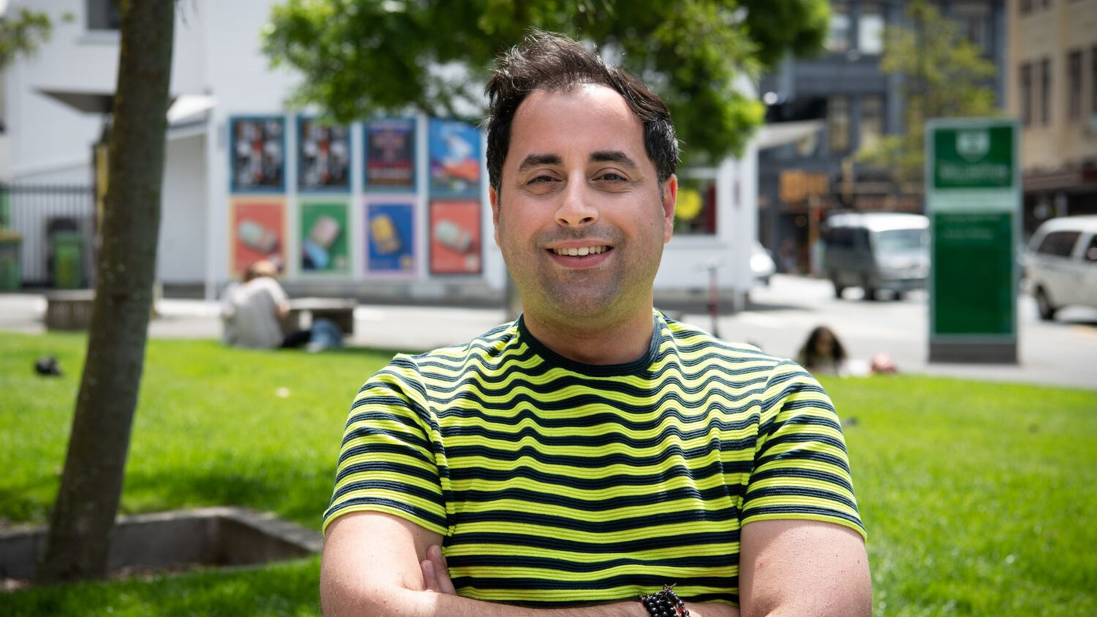 Bruno Marquez in Cobblestone Park, Te Aro