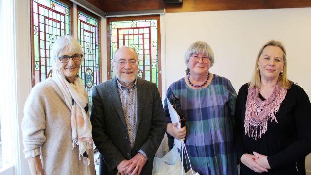 L-R: Emeritus Professor Lydia Wevers, Emeritus Professor Richard Hill, Associate Professor Anna Green, Debbie Levy.