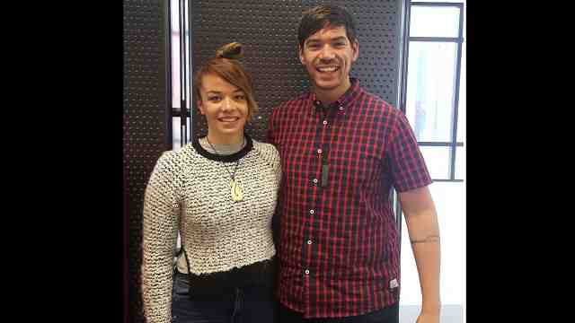 L-R: Annie Te One and Vincent Olsen-Reeder, who both happened to study undergraduate degrees together at Victoria, have both been appointed lecturer roles at Te Kawa a Māui – Anni and Vinnie stand together, smiling at the camera.