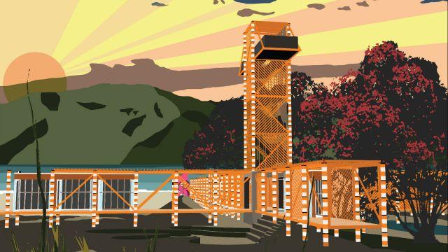 Artist render of new visitor centre.