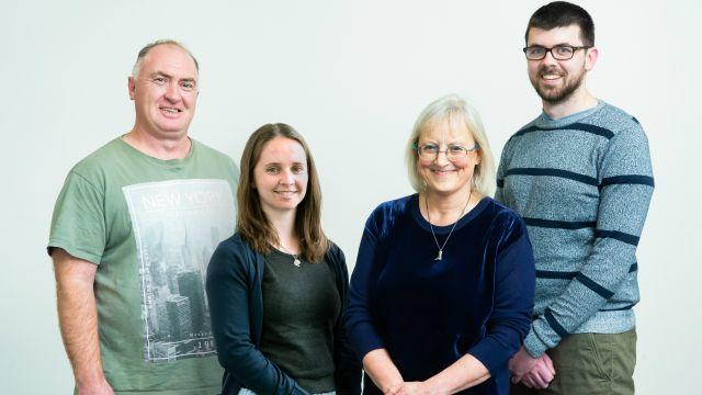 Left to Right – Dean Broughton, Jamie Hawkins Elder, Professor Charlotte Macdonald, Hayden Thorne