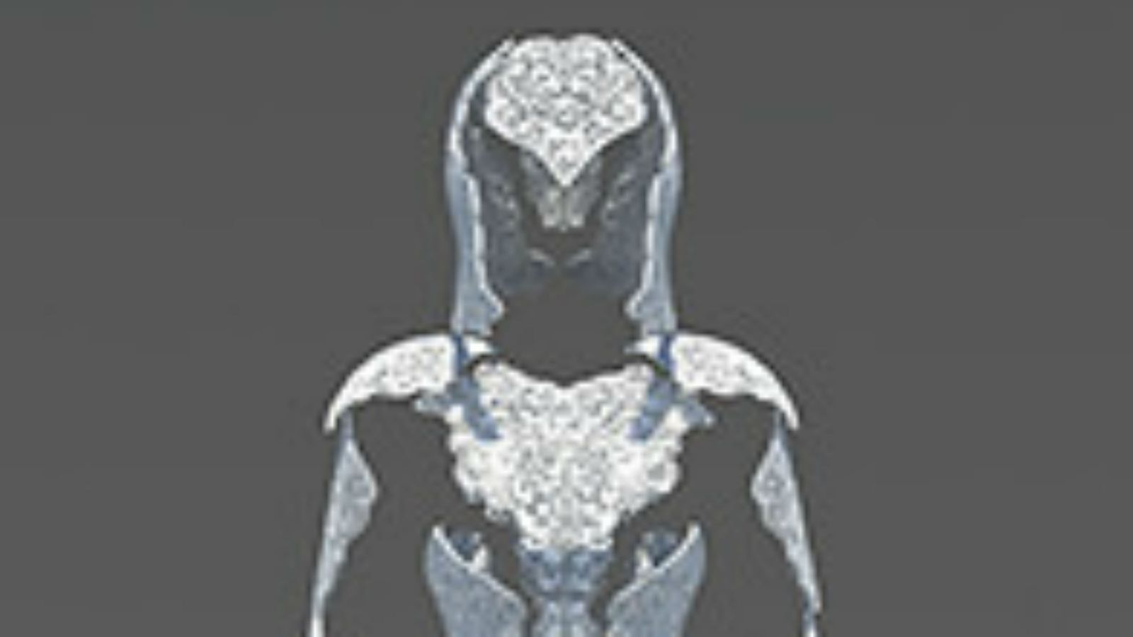 A digital graphic of human armor.